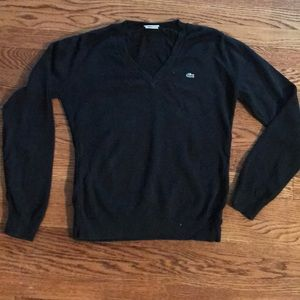 Lacoste black V-neck sweater